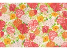 LEE JOFA HERITAGE FLORAL COTTON FABRIC SALMON PINK