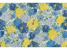 LEE JOFA HERITAGE FLORAL COTTON FABRIC BLUE YELLOW