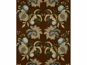 LEE JOFA JESSUP SEPIA/INDIGO FABRIC BLUE GREEN BROWN