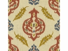 LEE JOFA KAILAR LINEN EMBROIDERED FABRIC CLAY OCHRE
