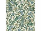 LEE JOFA KENLYN PEACOCK LINEN FABRIC GREEN BLUE
