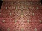 LEE JOFA KRAVET ANNE BOLEYN RENAISSANCE SILK DAMASK FABRIC 10 YARDS ROSE PINK GOLD CREAM