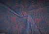 LEE JOFA KRAVET ASIA CHENILLE FABRIC 10 YARDS INDIGO MULTI