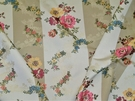 LEE JOFA KRAVET HAINAN CHINOISERIE PAGODA FLORAL STRIPES BROCADE FABRIC 10.5 YARDS MULTI