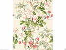 LEE JOFA KRAVET CHINOISERIE PEONY TREE FABRIC SHABBY ROSE PINK GREEN