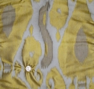 LEE JOFA KRAVET COUTURE WARP IKAT KILIM SILK DAMASK FABRIC GOLD AMBER