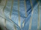 LEE JOFA KRAVET COUTURE WATER STRIPE ITALIAN MOIRE FABRIC 10 YARDS SHADES OF BLUE