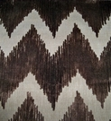 LEE JOFA KRAVET CUT VELVET CHEVRON FLAME STITCH ZIG ZAG FABRIC BROWN