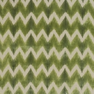 LEE JOFA KRAVET CUT VELVET CHEVRON FLAME STITCH ZIG ZAG FABRIC GREEN