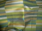 LEE JOFA KRAVET DECO GEOMETRIC RECTANGLES SILK DAMASK FABRIC BLUE GREEN