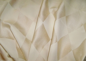 LEE JOFA KRAVET DIAMONDS HARLEQUIN JACQUARD FABRIC 11 YARDS CREAM