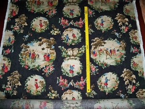 "LEE JOFA KRAVET (for TITLEY & MARR) VICTORIAN GOLF MEDALLIONS ""THE OLD COURSE"" FABRIC 10 3/4 YARDS"