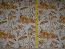 LEE JOFA KRAVET L'ORIENT CHINOISERIE TOILE FABRIC 5 YARDS GOLD WHITE