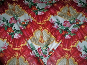 LEE JOFA KRAVET LE GRAND OPERA COTTON CHINTZ FABRIC 3 YARD REMNANT