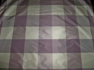 LEE JOFA KRAVET MARAIS PLAID CHECK SILK TAFFETA FABRIC 15 YARDS LAVENDER