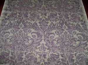 LEE JOFA KRAVET MONTROSE DAMASK LINEN FABRIC 5 YARDS AMETHYST