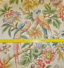 LEE JOFA KRAVET PARROTS & PEONIES COTTON FABRIC SAMPLE