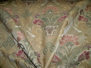 LEE JOFA KRAVET TULIP ROSE MEDALLIONS BROCADE FABRIC 9 YARDS
