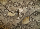 LEE JOFA KRAVET WILLIAM MORRIS INSPIRED ART NOUVEAU LINEN FABRIC BROWN