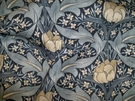 LEE JOFA KRAVET WILLIAM MORRIS INSPIRED ART NOUVEAU LINEN FABRIC INDIGO