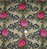 LEE JOFA KRAVET WILLIAM MORRIS INSPIRED ART NOUVEAU LINEN FABRIC ROSE MULTI