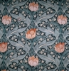 LEE JOFA KRAVET WILLIAM MORRIS INSPIRED ART NOUVEAU LINEN FABRIC TEAL MULTI