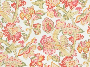 LEE JOFA LA CINTA JACOBEAN FABRIC RED PINK