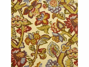 LEE JOFA LA CINTA JACOBEAN FABRIC BLUE BEIGE PURPLE