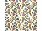 LEE JOFA LA REINE SILK PRINT FABRIC CREAM