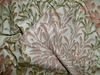 LEE JOFA LEAF CASADE COTTON PRINTED FABRIC ROSE BEIGE CREAM