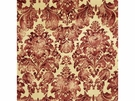 LEE JOFA MANTOVA CORDUROY PRINT DAMASK FABRIC RED