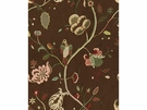 LEE JOFA MARGOT BIRDS EMBROIDERED LINEN FABRIC SABLE