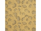 LEE JOFA MEADOW EMBROIDERED SILK FABRIC GOLD