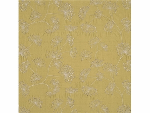 LEE JOFA MEADOW EMBROIDERED SILK FABRIC LEAF