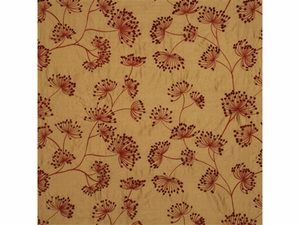 LEE JOFA MEADOW EMBROIDERED SILK FABRIC RED GOLD