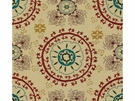 LEE JOFA MEVLEVI EMBROIDERED SUZANI FABRIC RUBY