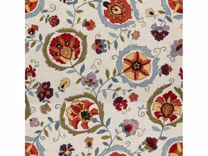 LEE JOFA MONTMARTRE PRINTED FABRIC CLAY BLUE