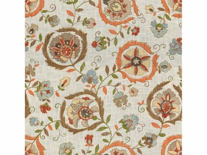 LEE JOFA MONTMARTRE PRINTED FABRIC TAN ORANGE