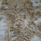 LEE JOFA MOOSE LODGE WILDERNESS SCENIC TOILE LINEN FABRIC SAND