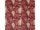 LEE JOFA MOOSE LODGE WILDERNESS SCENIC TOILE VELVET FABRIC RED SAND