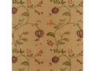 LEE JOFA SARABANDE FLORAL EMBROIDERED SILK LINEN FABRIC TAUPE