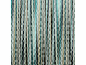 LEE JOFA SAWLEY VELVET STRIPE FABRIC INDIGO TEAL