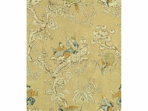 LEE JOFA SERENADE ASIAN TOILE LINEN FABRIC FLAX