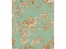 LEE JOFA SERENADE ASIAN TOILE LINEN FABRIC TURQUOISE