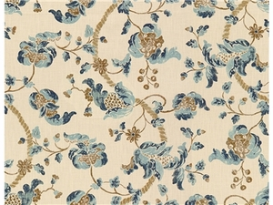 LEE JOFA SEVENOAKS FABRIC BLUE/UMBER