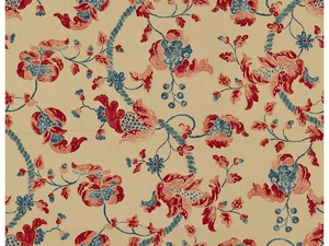 LEE JOFA SEVENOAKS FABRIC RED/BLUE