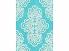 LEE JOFA SHELL WE DAMASK LINEN FABRIC SHORELY BLUE