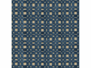 LEE JOFA SHORERIDGE GEOMETRIC VELVET FABRIC LAPIS
