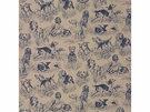 LEE JOFA SPORTING LIFE DOGS TOILE FABRIC BLUE