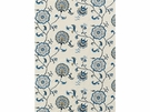 LEE JOFA SWANBOROUGH EMBROIDERED FLORAL COTTON LINEN FABRIC BLUE OLIVE SILVER